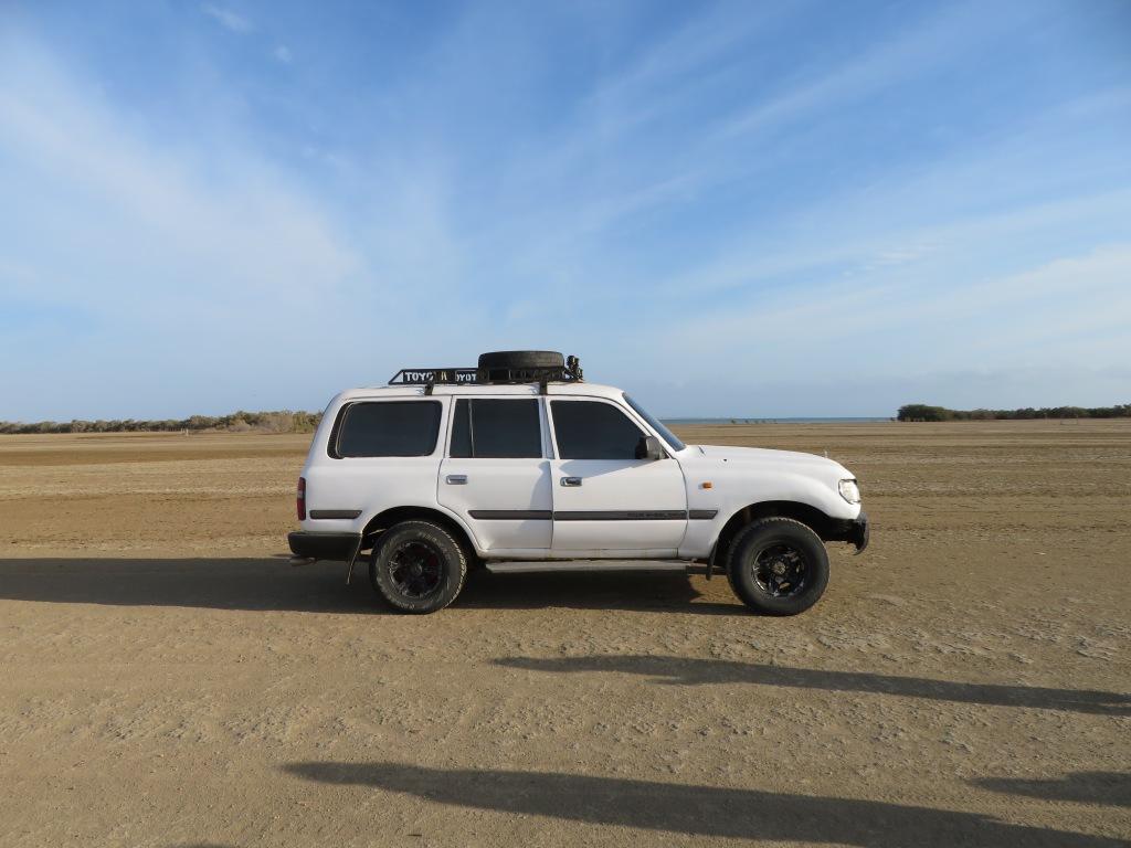 Our 4x4 Toyota Land Cruiser in La Guajira Desert